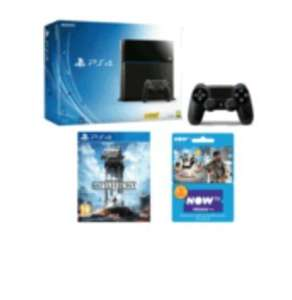 PS4 500gb +Extra Dualshock 4 control+Starwars battlefront+NOW TV Movies 2 Month Pass £279.99 @ Game
