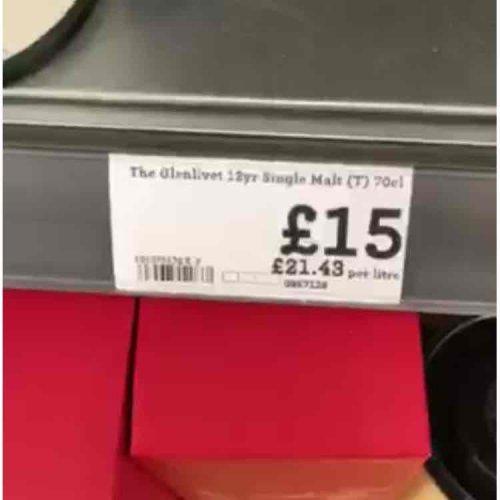 glenlivet 12 yo £15 @ Morrisons