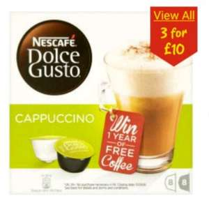 3 for £10 on Dolce Gusto Coffee Pods at ASDA