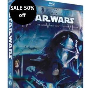 Star Wars Trilogy: Episodes IV, V and VI (Blu-ray) - SALE 50% OFF £14.99 @ xtra vision