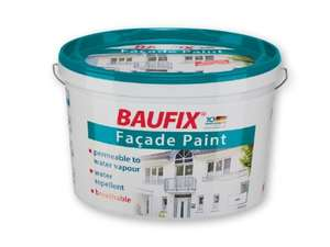 Baufix(R) 10L White Outdoor Masonry Paint £12.99 each @ Lidl