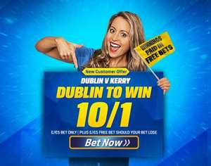Get a crazy 10/1 on Dublin to bet Kerry in the Allianz Football League Division 1 with £5 @ Coral