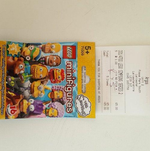 lego minifigures series 2 the Simpsons £1 @ Argos