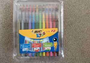 Bic kids 72 pieces colouring kit was £7.00 now £1.75 now in store Tesco Extra Glasgow