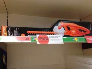 Flymo EasiCut 450 Electric Hedge Trimmer reduced from £40 to £20 in sainsburys