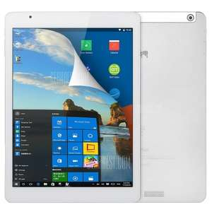 Teclast X98 Plus Windows 10 + Android 5.1 Tablet - WHITE Windows 10 + Android 5.1 9.7 inch QXGA IPS Retina Screen (264ppi) Intel Cherry Trail Z8300 64bit Quad Core 1.44GHz 4GB RAM 64GB ROM Bluetooth 4.0, £132.74 With Code @ Gearbest