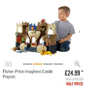 Imaginext Castle playset now half price at Argos £24.99, was £49.99