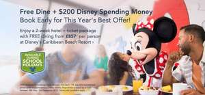 Walt Disney World 2017 Holidays - FREE $200 Disney Gift Card, FREE Memory Maker (worth $169), FREE Quick Service Dining Plan & 14 Day Disney ticket for the price of 7! @ Disney Packages