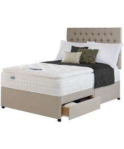 Silentnight Stanfield Pillowtop Kingsize 2 Drawer Divan From Argos @ £332.79 with code