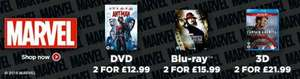 ZAVVI DEAL Two Marvel DVDs for £12.99 / Blu-rays for £15.99 / 3D Blu-rays for £21.99