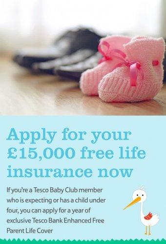 12 months free £15,000 life insurance Tesco Bank
