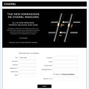 Free Chanel Mascara sample at boots online