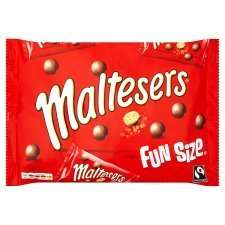 Maltesers Funsize (195g) & Mars Funsize Minis (13 x 19g) Pack 195g half price was £2.79 now £1.39 until 17th May @ tesco