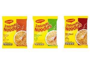 Maggi 3 Minute Noodles Currys / Chicken or BBQ Beef for 20p at Tesco (from 27th)