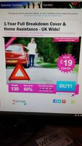 1 year breakdown cover £19 with 2Gether through Wowcher