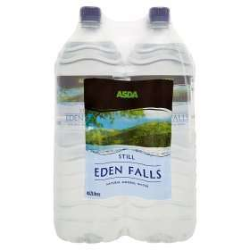 ASDA Eden Falls Still/Sparkling Natural Mineral Water 16 litres £2.50 Online/In store