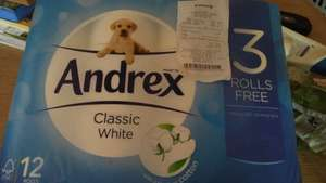 Andrex classic white 12 pack £2.99 @ Semichem (INSTORE ONLY)