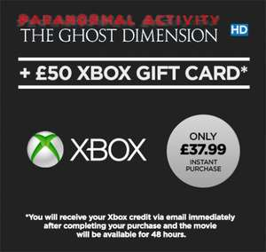 Xbox Live £50 Gift Card & Paranormal Activity: The Ghost Dimension HD £38.99  @ Wuaki