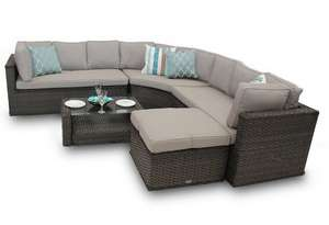 Brantwood Rattan Corner Sofa Set Round Back 5 Piece - Brown £749 delivered @ Feature Deco