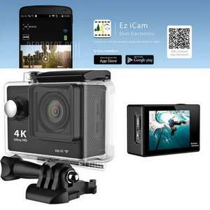 EKEN H9 Ultra HD 4K Action Camera  -  EU PLUG Sunplus 6350 + OV4689 WiFi 170 Degree Wide Angle 2 inches LCD Screen £31.73 @ Gearbest