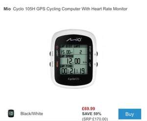 Cyclo 105H GPS Cycling Computer With Heart Rate Monitor - £69.99 @ Wheelies