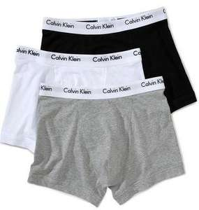 Calvin Klein Underwear Men's Pack of 3 Trunk Boxer Shorts From £18.59  (Prime) / £22.58 (non Prime) @ Amazon