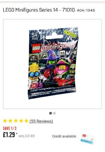 lego minifigures series 14 - £1.29 @ ARGOS