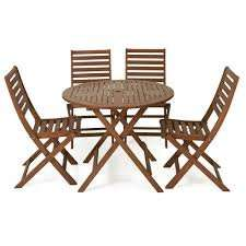Wilko FSC Wooden Patio Set 4 Seater £75 free c&c wilko.com