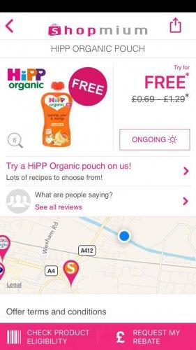 free hipp organic baby food pouch, free popchips, free moma porridge pots n free naked bar too @ shopmium app
