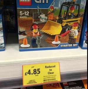 Lego City Demolition Starter Kit £4.85 from £9.00 @ Tesco