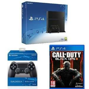 Sony PlayStation 4 Console 500 GB Edition Jet Black with a Jet Black DualShock 4 Controller and Call of Duty: Black Ops III: £259.99 @ Amazon