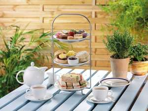 Indulgent Spring Afternoon Tea for Two inc sandwiches / scone cream tea / mille feuille / macaroons /strawberries / hot drinks with Free Refills at Wyevale Garden Centres Just £5pp via Groupon