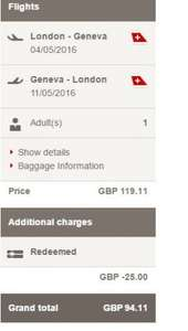 London Heathrow or London City to Geneva - From as little as £94.11 RETURN @ Swiss Airlines