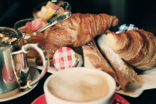Free Parisian Breakfast =) @paul