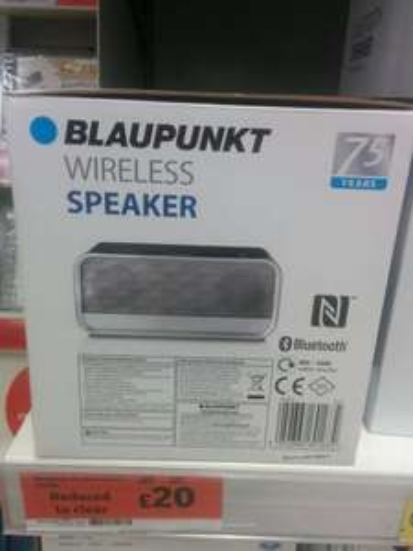 Blaupunkt Wireless Bluetooth speaker bar £20 @ Sainsbury's