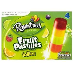 4pk Fruit Pastilles Ice Lollies 89p @ Spar