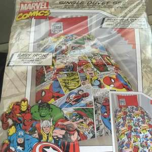 marvel comics duvet cover sheet bed set scanning at £3.50 @ Tesco instore
