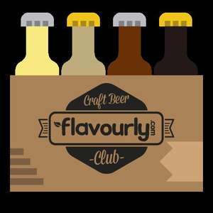 Four craft beers with free delivery from Flavourly for £4 with £1.50 cash back (via Quidco)