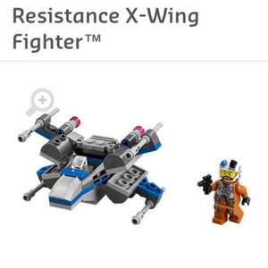 Free Lego Resistance X-Wing when you spend £50 @ lego shop  with O2 PRIORITY
