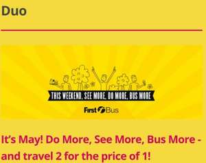 First bus Glasgow day pass for 2 persons