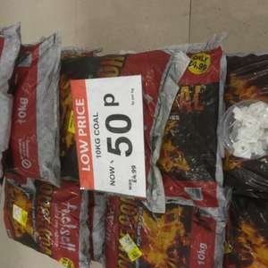 House Coal 10 kg 50p in Poundstretcher