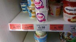 Small icecream tub for 38p @ Sainsburys