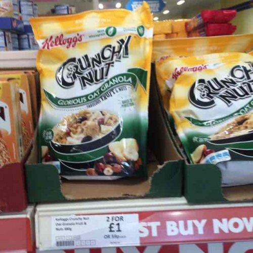 Kellogs Crunchy Nuts 2 for £1 @ Heron Foods