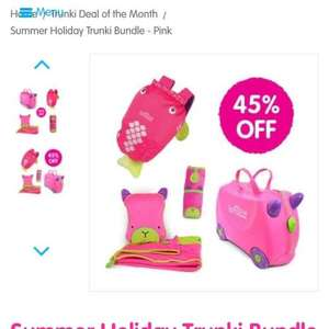 trunki summer bundle pink, blue, or build your own bundle £31.99 trunki.co.uk