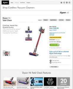 Dyson V6  Total Clean at Dyson RRP£430 now £299