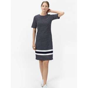 Joules Marie Stripe Jersey Dress, Soft Navy Stripe at John Lewis RRP£64.95 Now £45