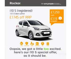 Rockar Hyundai i10s 5 door £7250.00 save £1745