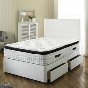 Paul Divan Bed with 2000 Spring Memory Foam Mattress NOW £179.00 @ Beds.co.uk