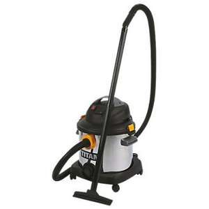 Titan 30l wet and dry vacuum cleaner with power tool outlet - £48.99 @ Screwfix