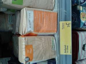 "Morrisons ""00"" flour 16p for 500g, was 63p."